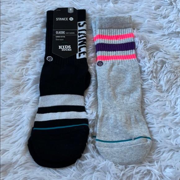 (2) Stance kids crew light cushion socks